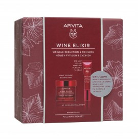Apivita Promo Wine Elixir Wrinkle & Firmness Light Texture Cream 50 ml + Δώρο Wrinkle Lift Eye & Lip Cream 15 ml