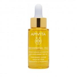 Apivita Beessential Oils Έλαιο Προσώπου Ημέρας Συμπλήρωμα Ενδυνάμωσης και Ενυδάτωσης 15ml