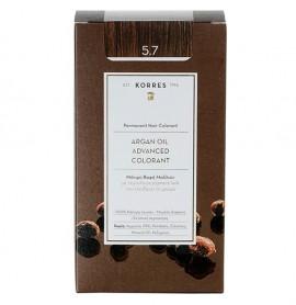 Korres Βαφή Argan Oil Advanced Colorant 5.7 Σοκολατί
