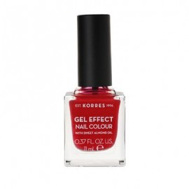 Korres Gel Effect Nail Colour 51 Rosy Red 11 ml