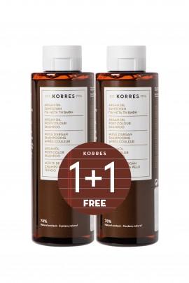 Korres Argan Oil Post-Colour Shampoo 250 ml 1+1 Δώρο