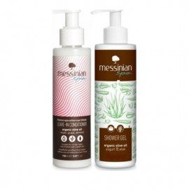 Messinian Spa Promo Leave-In Conditioner 150ml & ΔΩΡΟ Shower Gel Yogurt & Aloe 150ml