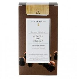 Korres Βαφή Argan Oil Advanced Colorant 9.0 Ξανθό Πολύ Ανοικτό