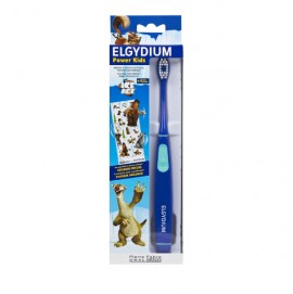 Elgydium Power Kids Ice Age Toothbrush Blue Ηλεκτρική Οδοντόβουρτσα Για Παιδιά