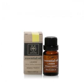 Apivita Essential oil Βιολογικό αιθέριο έλαιο Λεμόνι 10 ml