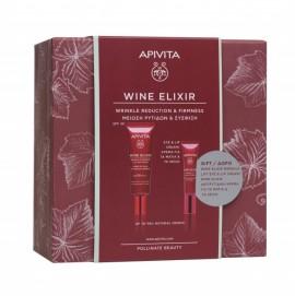 Apivita Promo Wine Elixir Wrinkle & Firmness Day Cream SPF30 40 ml + Δώρο Wrinkle Lift Eye & Lip Cream 15 ml