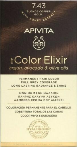 Apivita My Color Elixir 7.43 Ξανθό Χάλκινο Μελί 125ml