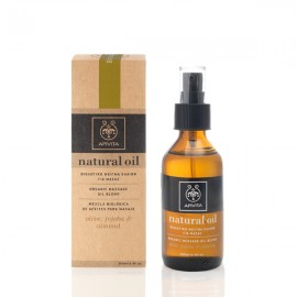 Apivita Natural oil Βιολογικό μείγμα ελαίων για Μασάζ olive, jojoba & almond 100 ml