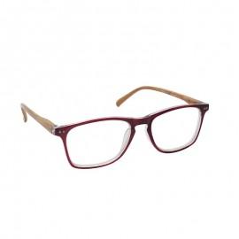 Eyelead Γυαλιά Διαβάσματος Κοκκάλινα Μπορντώ Με Ξύλινο Βραχίονα Ε213
