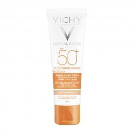 VICHY Ideal Soleil Anti Spot Αντηλιακή Προσώπου κατά των Κηλίδων με Χρώμα & μη Λιπαρή Υφή SPF50+ 50ml