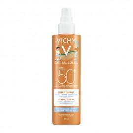Vichy Ideal Soleil Παιδικό Απαλό Αντιηλιακό Spray Χωρίς Άρωμα SPF50+ 200ml