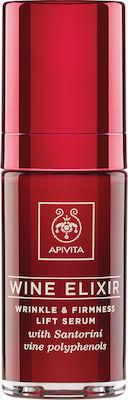 Apivita Wine Elixir Αντιρυτιδικός Ορός για Σύσφιξη & Lifting με Πολυφαινόλες από Αμπέλια Σαντορίνης 30ml