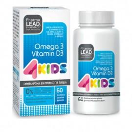 Pharmalead 4 Kids Omega 3 & Vitamin D3 με Γεύση Φράουλα 60 ζελεδάκια