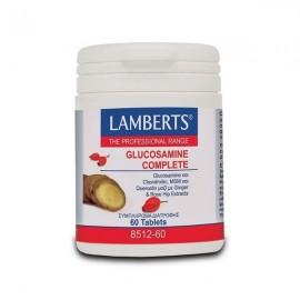 Lamberts Glucosamine Complete Γλυκοσαμίνη, Χονδροϊτίνη, MSM, Κερσετίνη, Τζίντζερ, Rose Hip 60 Ταμπλέτες