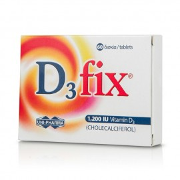 Uni-Pharma D3 Fix Βιταμίνη D3, 1.200iu 60tabs