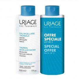 Uriage Thermal Micellar Water normal & dry skin 2 x 500 ml