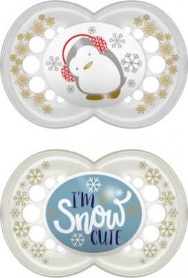 Mam Πιπίλα Σιλικόνης Winterfun 6-16m Im Snow Cute 2τμχ
