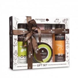 Messinian Spa Shower Gel Fig 300ml + Shampoo All Types 300ml + Body Butter Fig 250ml