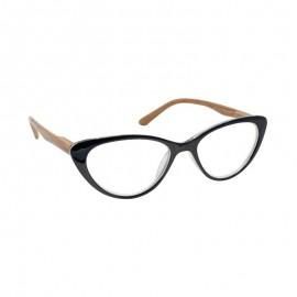 Eyelead Γυαλιά Διαβάσματος Κοκκάλινα Μαύρα Πεταλούδα Με Ξύλινο Βραχίονα Ε204