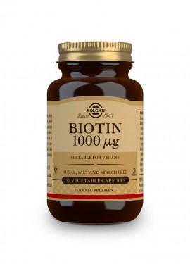 Solgar Biotin 1000mcg, Συμπλήρωμα Διατροφής με Βιοτίνη 50 φυτικές κάψουλες