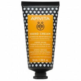 Apivita Κρέμα Χεριών Εντατικής Ενυδάτωσης Πλούσιας Υφής με Υαλουρονικό Οξύ & Μέλι 50ml