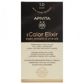 Apivita My Color Elixir kit Μόνιμη Βαφή Μαλλιών 1.0 Μαύρο