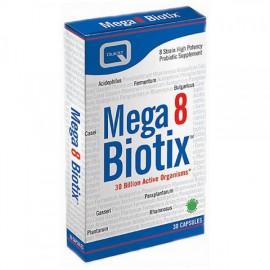 Quest Mega 8 Biotix Συνδυασμός 8 Διαφορετικών Προβιοτικών, Καλή Λειτουργία του Εντέρου, 30Caps