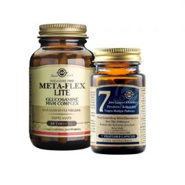 Solgar Meta-Flex Lite Glucosamine MSM Complex Vegan 60 tabs & Δώρο Solgar No7 7 veg.caps