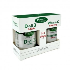 Power Health Classics Platinum Range Vitamin D-Vit3 5000iu 60 ταμπλέτες & Vitamin C 1000mg 20 ταμπλέτες