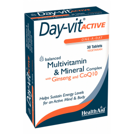 Health Aid Day-vit Active Ginseng CoQ10 30 tabs