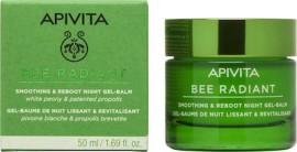 Apivita Bee Radiant Λευκή Παιώνια & Πατενταρισμένη Πρόπολη Gel-Balm Νύχτας για Λείανση και Αναζωογόνηση 50ml
