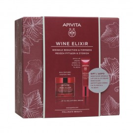 Apivita Promo Wine Elixir Wrinkle & Firmness Rich Texture Cream 50 ml + Δώρο Wrinkle Lift Eye & Lip Cream 15 ml