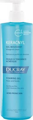 Ducray Keracnyl Gel Moussant, Τζελ Καθαρισμού για Λιπαρό Δέρμα με Ατέλειες 400ml