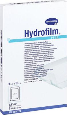 Hartmann Hydrofilm Plus 9cm x 15 cm Αυτοκόλλητα Επιθέματα Τραύματος 5τμχ