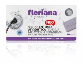 Power Health Fleriana Φυσικά Εντομοαπωθητικά Πλακίδια 20Τεμ