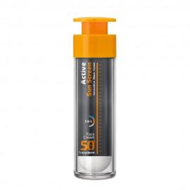 Frezyderm Active Sun Screen Innovative Black Face Cream, Αντηλιακή Κρέμα Προσώπου με SPF50+, 50ml