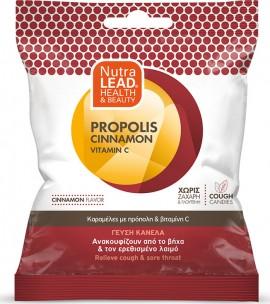Nutralead Cough Candies Καραμέλες με Πρόπολη, Κανέλα & Βιταμίνη C για το Βήχα & τον Πονόλαιμο 40gr