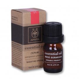 Apivita Essential Oil, Αιθέριο Έλαιο με Γεράνι 5ml