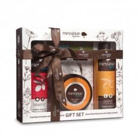 Messinian Spa Shower Gel Pomegranate 300ml + Shampoo All Types 300ml + Face & Body Scrub 250ml