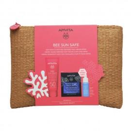 Apivita Promo Bee Sun Safe Anti-Spot & Anti-Age Face Cream SPF50 & ΔΩΡΟ Ενυδατική Μάσκα Προσώπου Θαλάσσια Λεβάντα Express Beauty 2Χ8ml & Aqua Beelicious Serum 10ml