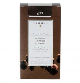 Korres Βαφή Argan Oil Advanced Colorant 4.77 Καστανό Σκούρο Σοκολατί