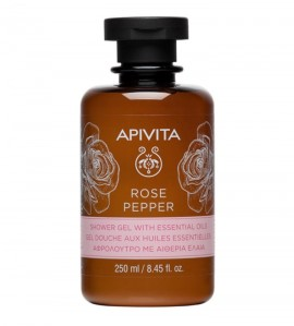 Apivita Shower Gel Rose Pepper with Essential Oils 250 ml
