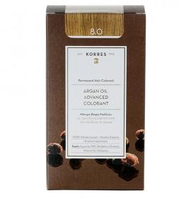 Korres Βαφή Argan Oil Advanced Colorant 8.0 Ξανθό Ανοικτό