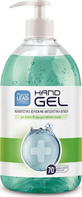 PharmaLead Hand Gel 500ml - Καθαριστικό Χεριών Με Αντισηπτική Δράση Με Αλόη & Άρωμα White Musk