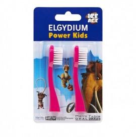 Elgydium Power Kids Refill I.A. Pink Ανταλλακτικά 2τμχ