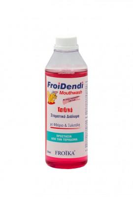 Froika FroiDendi Παιδικό Στοματικό Διάλυμα κατά της Τερηδόνας με γεύση Tutti Frutti, 250ml