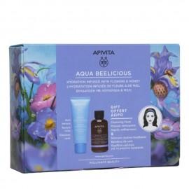Apivita Promo Aqua Beelicious Rich Texture 40 ml & Δώρο Αφρός Καθαρισμού 75 ml + Κορδέλα Μαλλιών