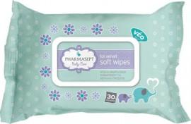 Pharmasept - Baby Soft Wipes Απαλά Υποαλλεργικά Μαντηλάκια Χωρίς οινόπνευμα για τα Χέρια + το Πρόσωπο 30τμχ