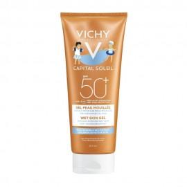 Vichy Capital Soleil Wet Skin Gel Kids SPF50+ για την Ευαίσθητη Παιδική Επιδερμίδα 200ml