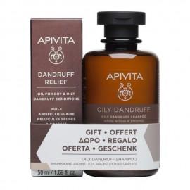 Apivita Promo Oil for Dry & Oily Dandruff 50ml & Shampoo Against Oily Dandruff 250ml